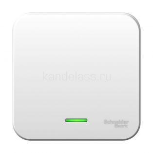 Вык-ль 1кл с подсв. 10А ОУ изол. пласт. Blanca (бел) Schneider Electric
